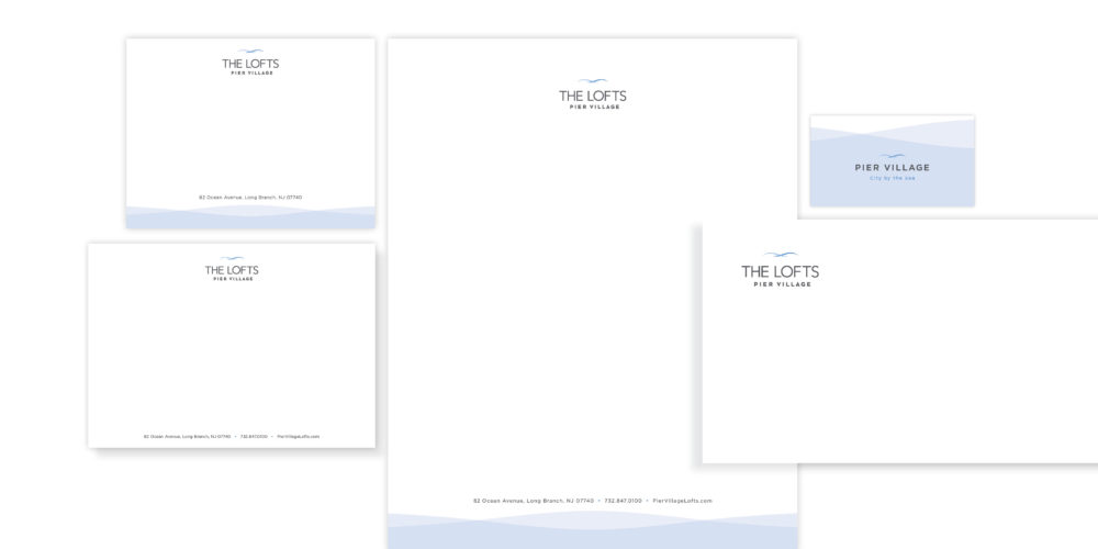 The Lofts Pier Village_Stationery Package_Pace blog
